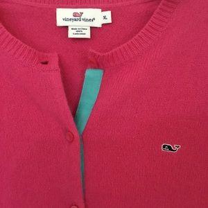 Vineyard Vines Pink wool cardigan